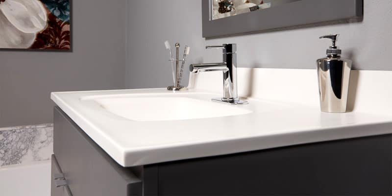 durable bathroom countertop